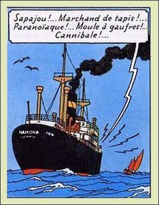 """Dans """"Cocke en stock"""", le """"Ramona"""" ne transporte pas vraiment ce pour quoi il est fait. Mais quel type de bateau est-ce donc ?"""