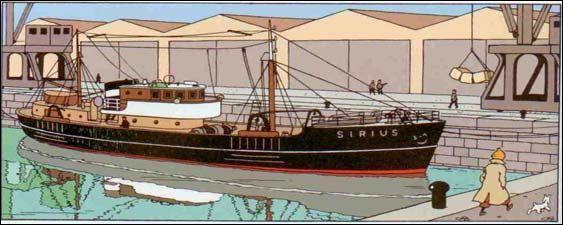 """A St Nazaire, Tintin, Haddock et Tournesol embarquent sur le """"SIrius"""" dans """"Le Trésor de Rakham le Rouge"""" ; qui en est le propriétaire ?"""