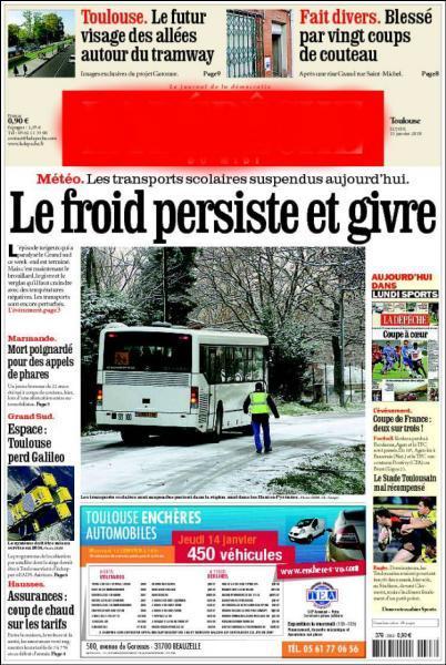 Dans quel journal prendrez-vous les nouvelles si vous habitez Toulouse ?