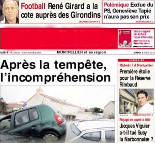 Quel journal, fondé en 1944, vous donnera les nouvelles quotidiennes si vous séjournez à Montpellier ?