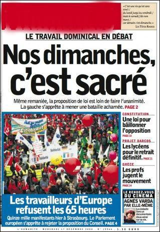 Créé par Jean-Jaurès, c'est le journal quotidien que lisait Georges Marchais :