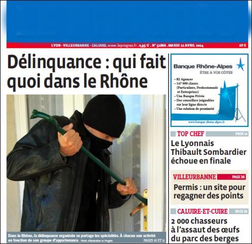 Quel est ce quotidien diffusé dans le Rhône, l'Ain, la Loire, le Jura ?