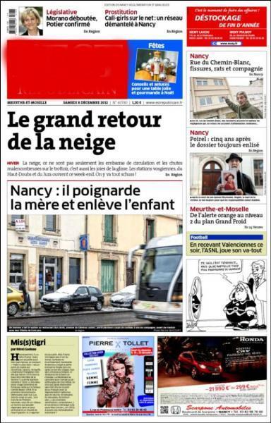 Que lirez-vous si vous demeurez à Nancy ?