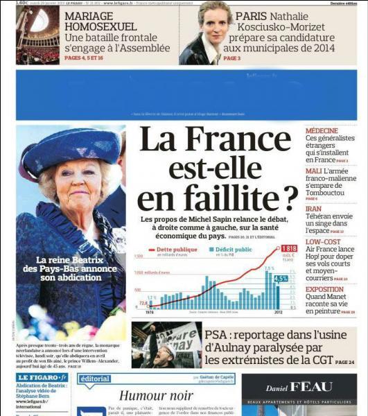 Journal de droite dont le président est Serge Dassault, il revendique l'honneur d'être le plus ancien quotidien de la Presse française :