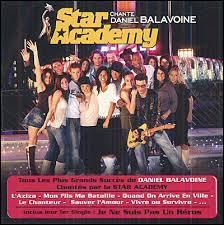"""Quelle saison de la """"Star Academy"""" a sorti un album composé de reprises des chansons de Daniel Balavoine ?"""