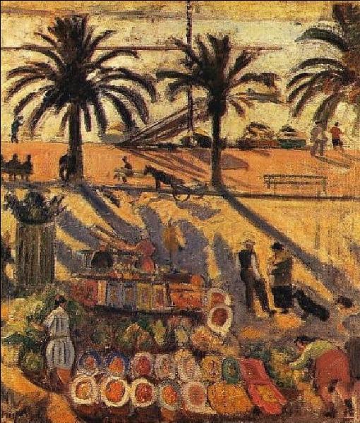 """Qui a peint """"Le marché de Sanary"""" ?"""