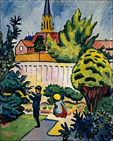 """Qui a peint """"Enfants dans le jardin"""" ?"""