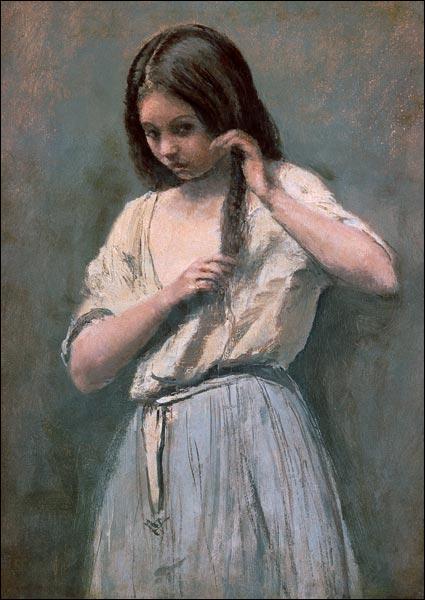 """Qui a peint """"Jeune fille se peignant"""" ?"""