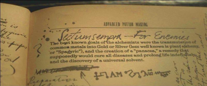 """Enfin, dans """"Harry Potter et les Reliques de la Mort"""" (Partie I) et """"Harry Potter et les Reliques de la Mort"""" (Partie II), Severus Rogue remplit jusqu'au bout son rôle d'agent double. Quelle information n'apprend-on pas dans les mémoires visionnées par Harry Potter dans la Pensine ?"""