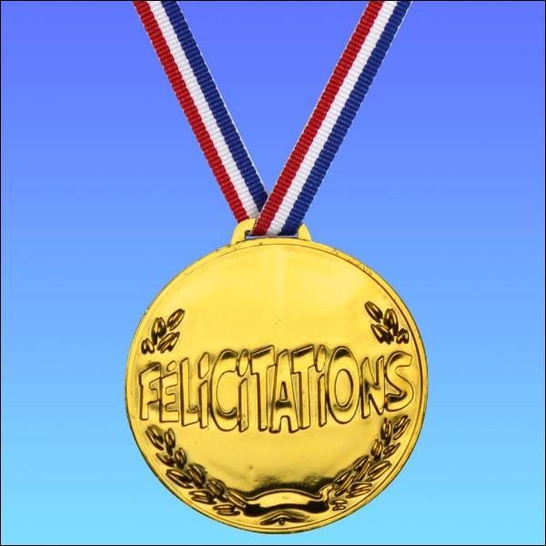 Si je tiens vraiment à une médaille d'or, je vous supplie, je vous la demande...