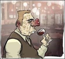 Encore de nos jours, on croit à tort que cette affection cutanée touchant le visage et notamment le nez, est un signe traduisant une consommation chronique d'alcool chez une personne. Pourtant, on conserve la rude habitude d'associer un alcoolique à ce type de rougeur prononcée du visage nommée :