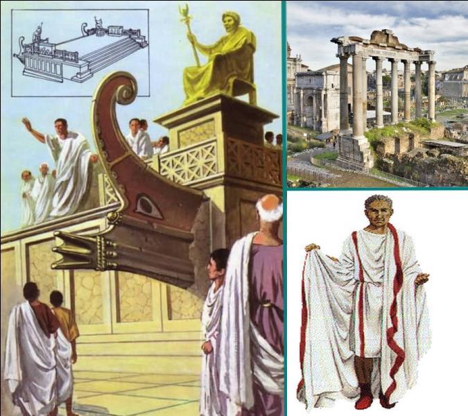 Dans la Rome antique, comment appelait-on les tribunes publiques situées sur le forum, édifices où les orateurs et les magistrats romains haranguaient la foule ?