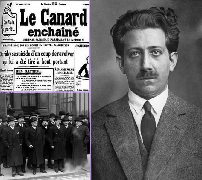 La mort en janvier 1934 dans des conditions suspectes d'Alexandre Stavisky, pilier principal du célèbre scandale financier où les milieux politiques furent compromis, contribua à la chute de quel gouvernenent ?