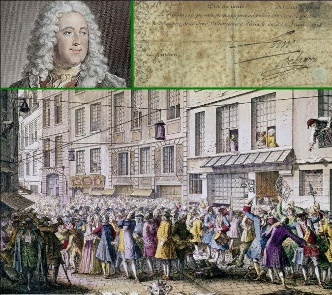 On lui doit l'invention du premier billet de banque français en 1720. Père de la finance et du papier monnaie; John Law économiste écossais fut également le ministre des finances de...