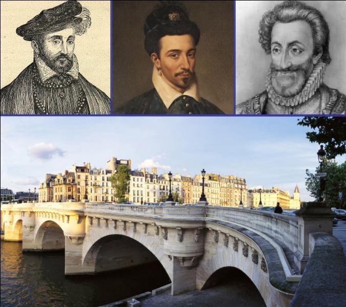 Malgré son nom, le pont Neuf est le plus ancien pont existant de Paris. Traversant la Seine à la pointe ouest de l'Ile de la Cité, quel roi de France décida de sa construction et posât la première pierre le 31 mai 1578 ?