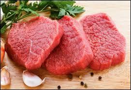 Lequel de ces animaux produit une viande rouge ?