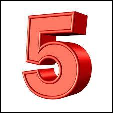 """C'est la traduction du mot """"cinq"""" en anglais. Vous avez deviné, il s'agit du groupe..."""