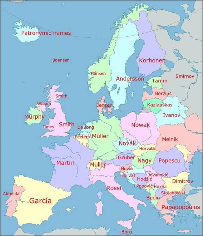 Des noms vieux comme 'Europe'
