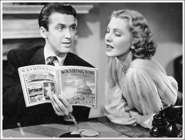 Dans quel film James Stewart et Jean Arthur se retrouvent-ils à Washington ?