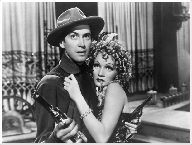 Quel film a tourné James Stewart avec Marlène Dietrich en 1939 ?