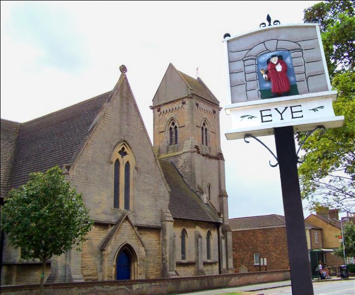 Eye est un petit village du Cambridgeshire :