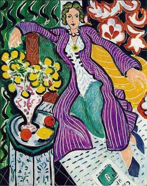"""Qui a peint ce tableau """"La Femme au manteau violet"""" ?"""