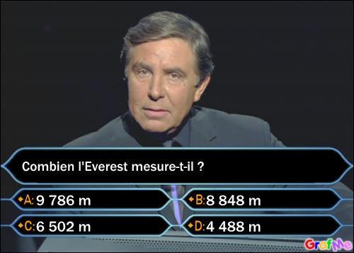 Cochez la réponse à la question.