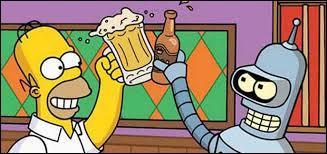 Avec qui Homer Simpson boit-il un coup dans un épisode spécial ?