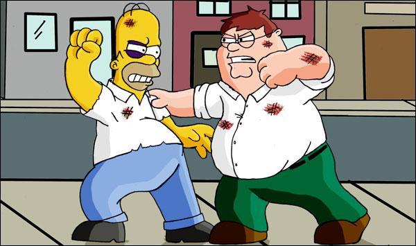Avec qui Homer s'est-il déjà battu ?