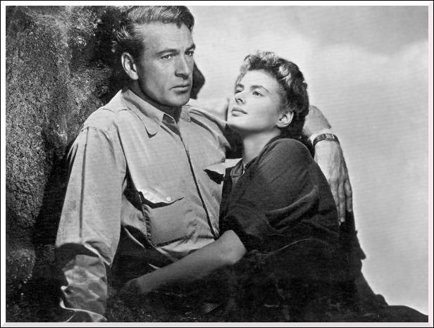 Quel film a pour décor la guerre d'Espagne avec Gary Cooper et Ingrid Bergman ?