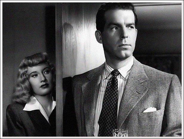 Quel film de 1944 fait de Fred MacMurray l'assassin du mari de Barbara Stanwick ?