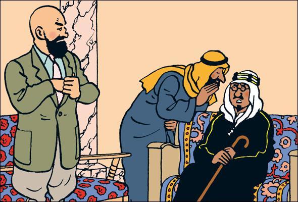 """Dans """"Tintin au pays de l'or noir"""" de quelle couleur est la cravate du Dr Müller ?"""