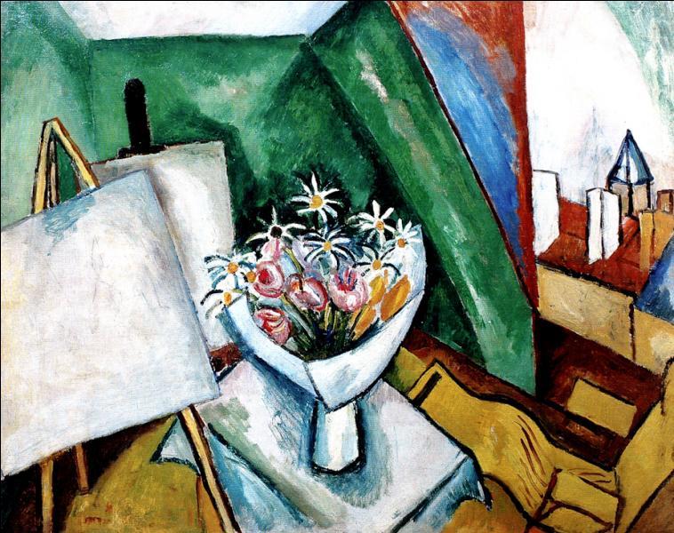 """Qui a peint """"Le bouquet dans l'atelier de la rue Désuguier"""" ?"""
