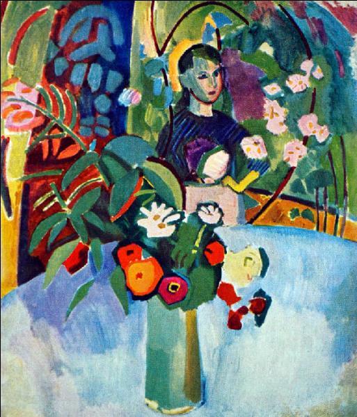 """Qui a peint """"Jeanne et les fleurs"""" ?"""