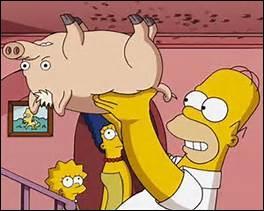 Il a des cheveux blonds et apparaît sous le nom de Spidder-Cochon dans la série des Simpson. Quel autre nom a-t-il ?