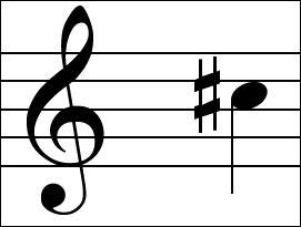 Parfois, la note est précédée d'un signe en forme d'une grille : qu'est-ce ?