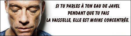 Citation de Jean-Claude VanDamme, qui n'a pas dit que des conne... : dans la boutique de lingerie, on ne voit pas ...