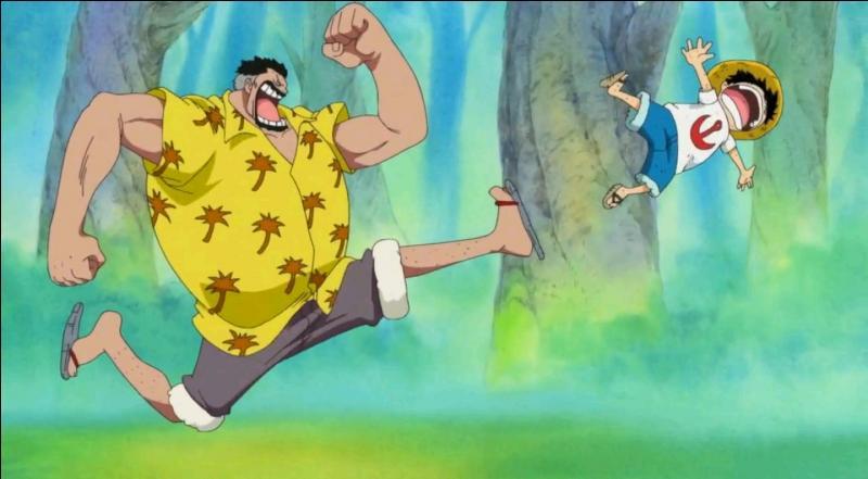 Quel entraînement Monkey D. Garp n'a-t-il pas fait subir à Luffy dans le but de l'endurcir ?