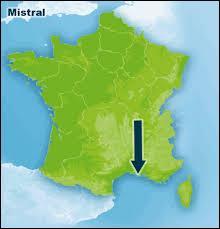 Comment s'appelle le vent qui souffle dans le sud de la France ?
