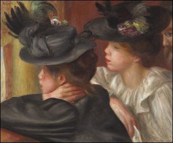 """Qui a peint """"Au théâtre la loge"""" ?"""