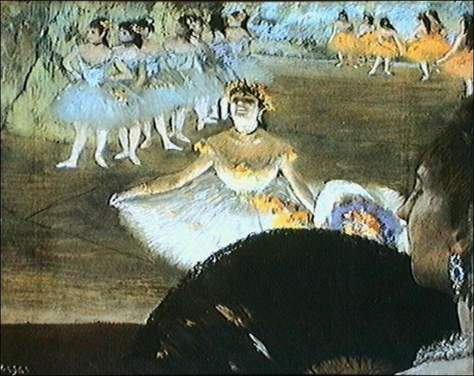 """Qui a peint """"Danseuse avec un bouquet depuis la loge"""" ?"""