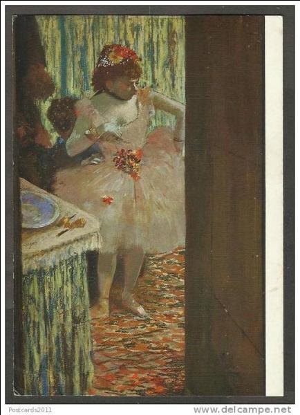 """Qui a peint """"Danseuse dans sa loge"""" ?"""