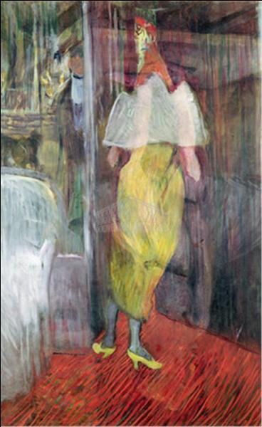 """Qui a peint """"Femme entrant dans sa loge"""" ?"""