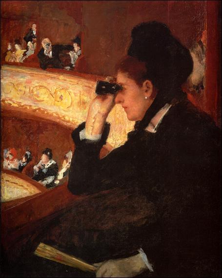 """Qui a peint """"La loge à l'Opéra ?"""