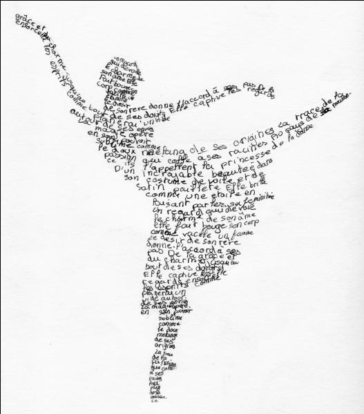 Que fait la danseuse ? Agrandir l'image, la réponse y est écrite !