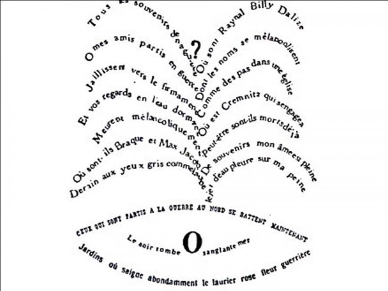 """Quels grands peintres sont évoqués dans """"Le jet d'eau"""" de Guillaume Apollinaire ?"""