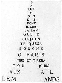 À qui Apollinaire pense-t-il dans ce calligramme ?