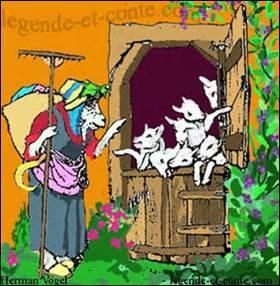 Qui le loup alla-t-il voir en dernier lieu afin de pouvoir pénétrer, en utilisant un subterfuge, chez les sept petits chevreaux qui attendaient leur maman ?