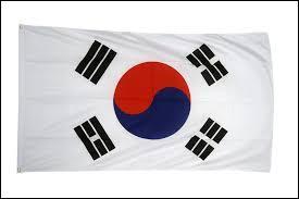 Ceci est le drapeau de la Corée du Nord.