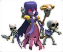 Combien de points de vie ont les squelettes créés par la sorcière ?